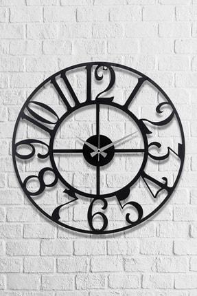 Muyika Design Muyika Bonni Metal Siyah Duvar Saati 50X50Cm
