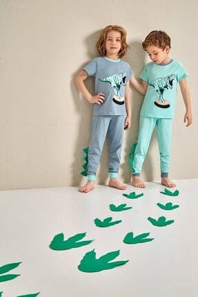 Lohusa Sepeti Erkek Çocuk Dino Pijama Takımı - 0041 Yaş 3-9