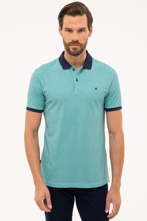 Pierre Cardin Erkek Lacivert Slim Fit Polo Yaka T-Shirt