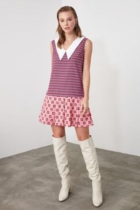 TRENDYOLMİLLA Mor Pileli Yaka Detaylı Elbise TWOSS20EL2795