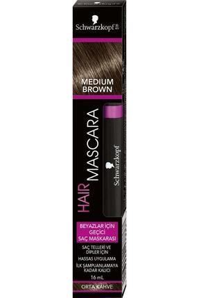 SCHWARZKOPF HAIR MASCARA Schwarzkopf Saç Maskarası Siyah Orta Kahve