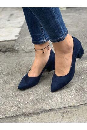 LDÇ Kadın Lacivert Topuklu Ayakkabı