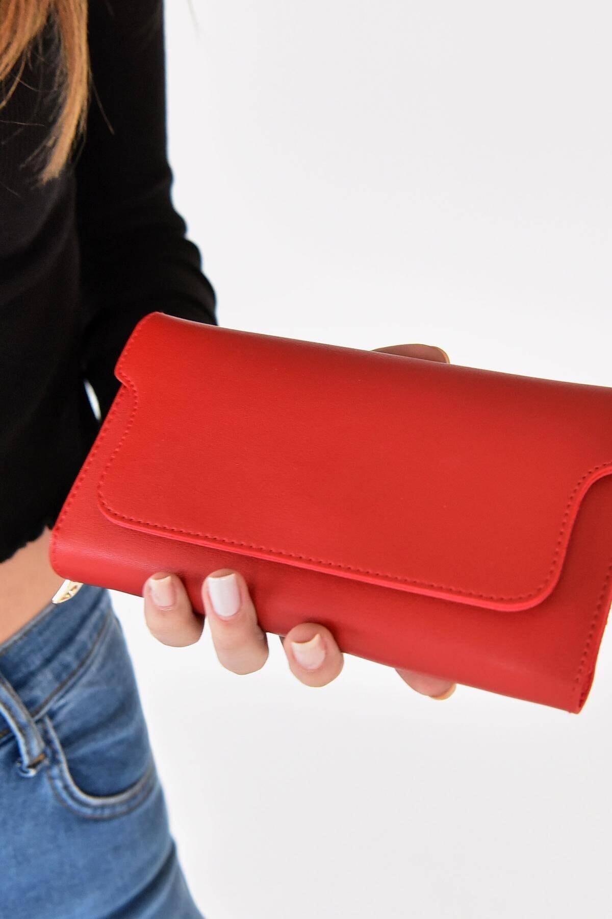 Addax Kadın Kırmızı Cüzdan Czdn55 - F5 1