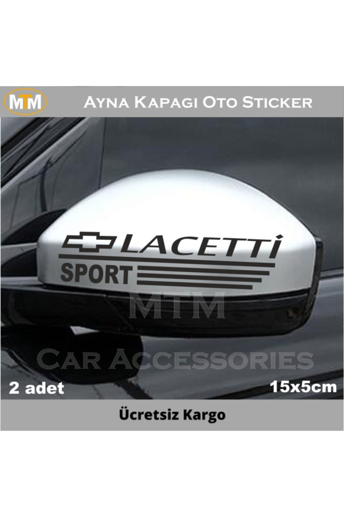 Adel Chevrolet Lacetti Ayna Kapağı Oto Sticker (2 Adet) 1