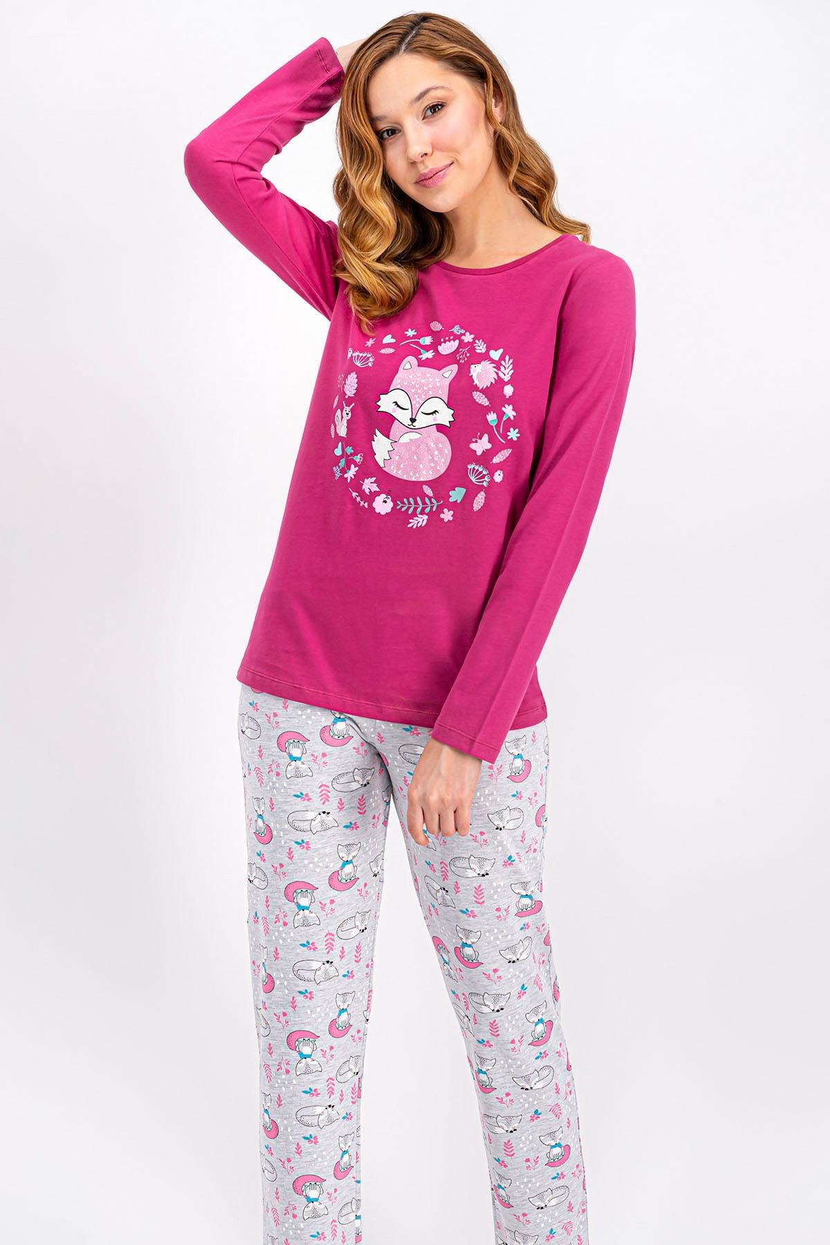 ROLY POLY Mat Gül Kurusu Little Fox Kadın Pijama Takımı 1