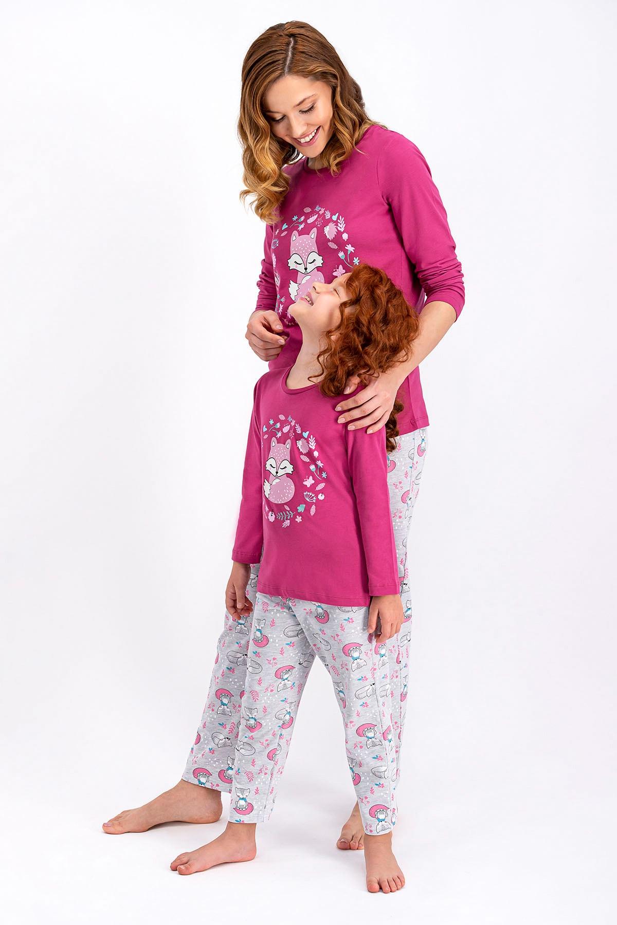 ROLY POLY Mat Gül Kurusu Little Fox Kadın Pijama Takımı 2