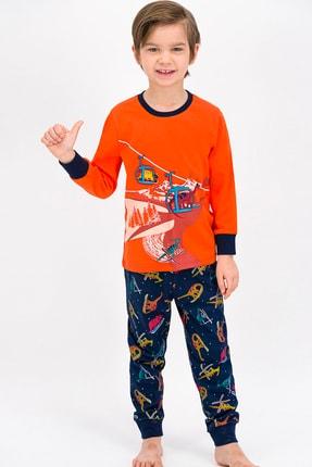 ROLY POLY Turuncu Winter Dinos Erkek Çocuk Pijama Takımı