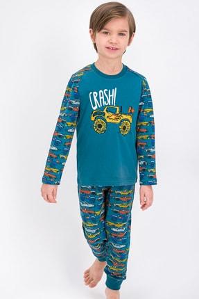 ROLY POLY Petrol Cars Lisanslı Crash Erkek Çocuk Pijama Takımı