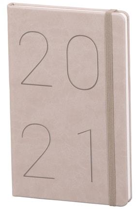 Matt Notebook 2021 Günlük Ajanda Bej
