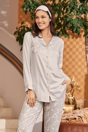 Lohusa Sepeti 5143 Camilla Pembe Önden Düğmeli Pijama Takımı