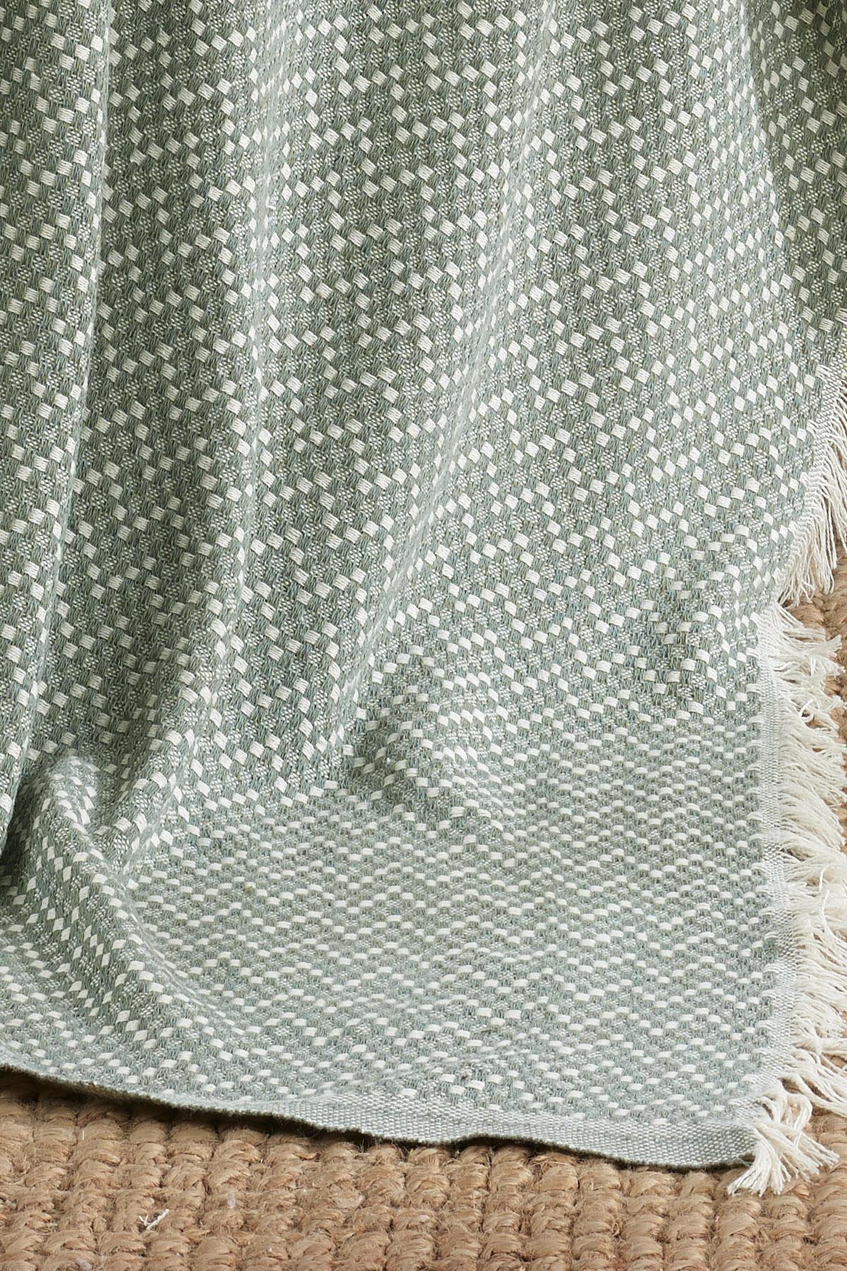 Fushia Natural Keten Koltuk Örtüsü Kara Tezgah Dokuma Koltuk Şalı 2