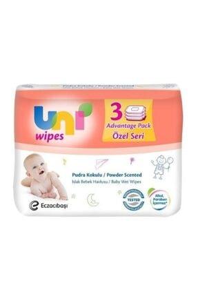 Uni Wipes Uni Baby Pudra Kokulu Islak Bebek Havlusu 52 Li 3 Paket 156 Kullanım