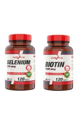 Nevfix Selenyum 200 mcg 120 Tablet Biotin 5000 mcg 120 Tablet