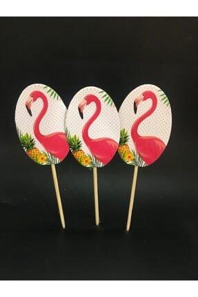 Flamingo Kürdan 20 Adet Doğum Günü Kürdanı