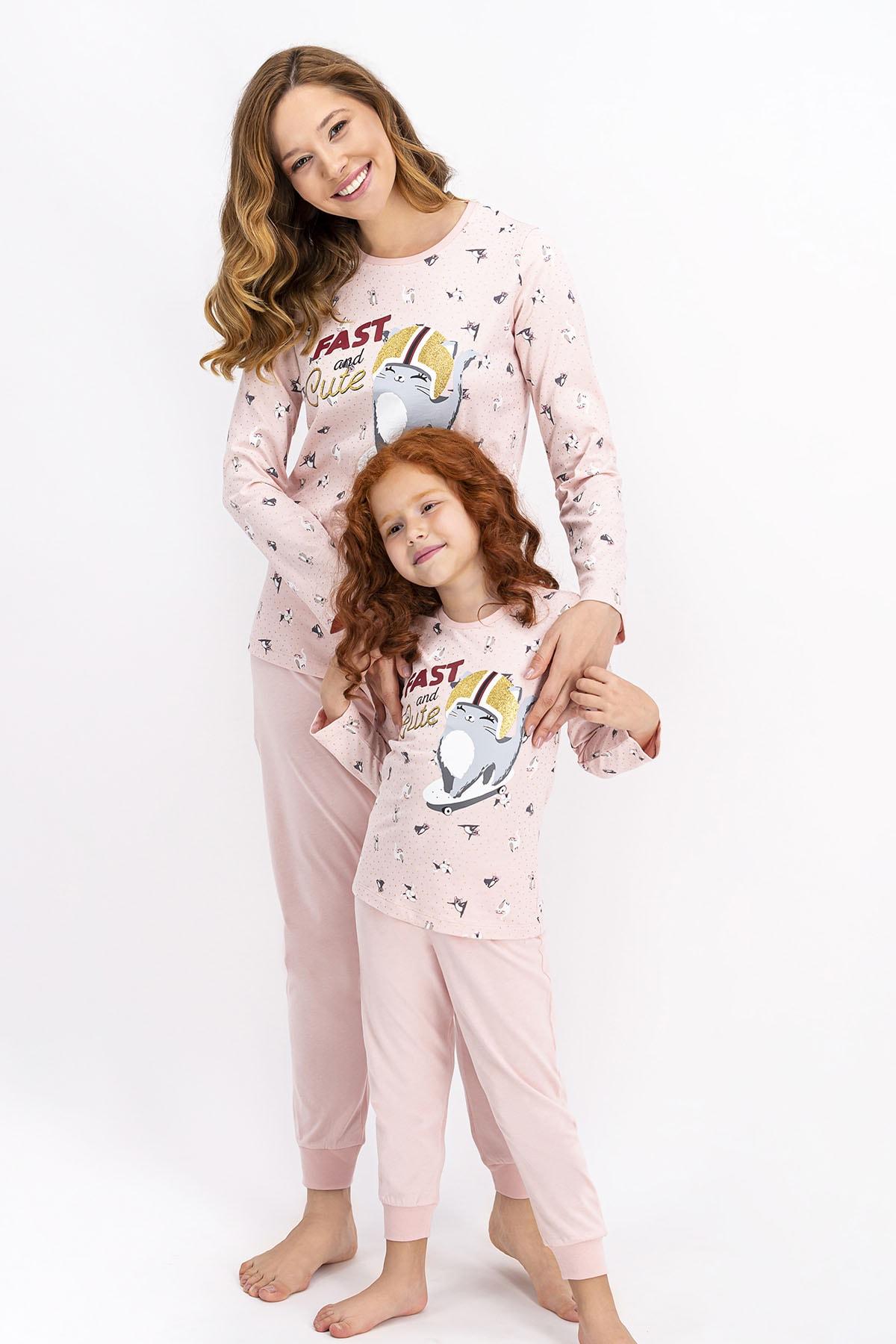 ROLY POLY Kadın Somon Fast And Cute Pijama Takımı 2