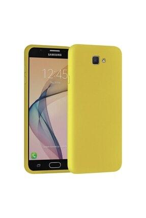 SARI STORE Samsung Galaxy J7 Prime Kılıf Içi Kadife Lansman Kapak Sarı