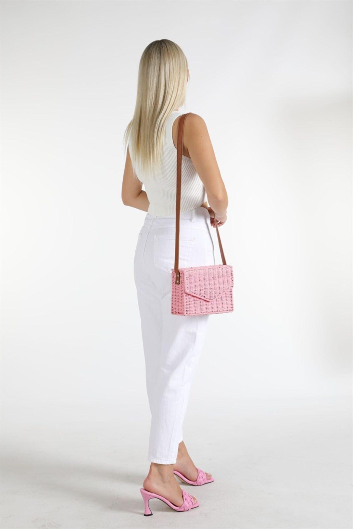 Oblavion Kadın Beyaz Yüksek Bel Detaylı Pantolon 2