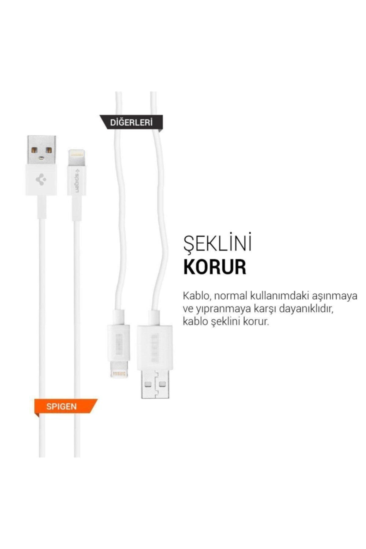 Spigen 2 Metre Apple Lightning Şarj Kablosu 2