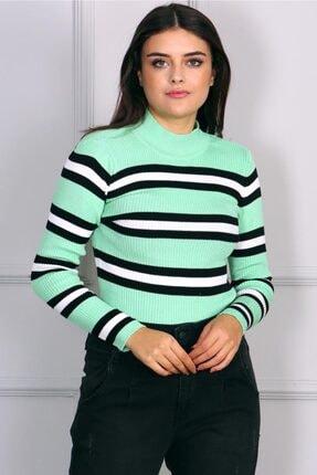 Madmext Kadın Yeşil Kazak