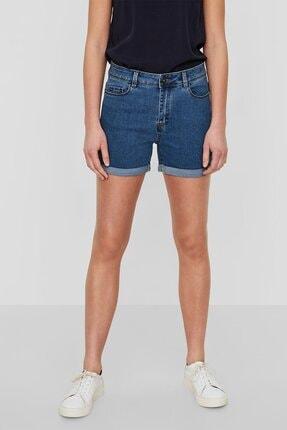 Vero Moda Kadın Mavi Katlama Paçalı Şort 10193079 VMHOT