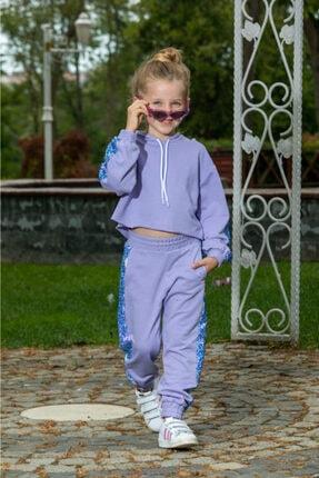 Baby DS Angel Face Çocuk Lila Eşofman Takımı