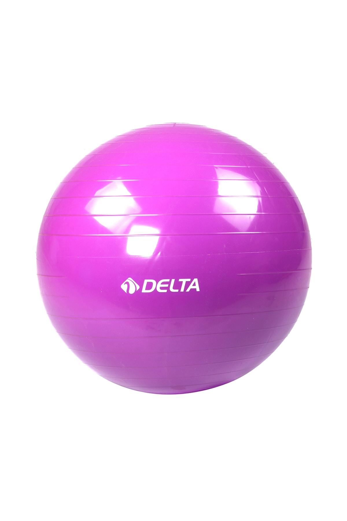 Delta 55 cm Dura-Strong Deluxe Mor Pilates Topu