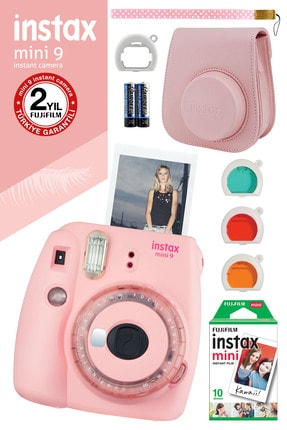 Fujifilm Instax mini 9 Toz Pembe Limited Edition Fotoğraf Makinesi ve Hediye Seti 3