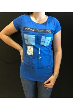 Panda Kadın Police Public Call Box Baskılı T-shirt