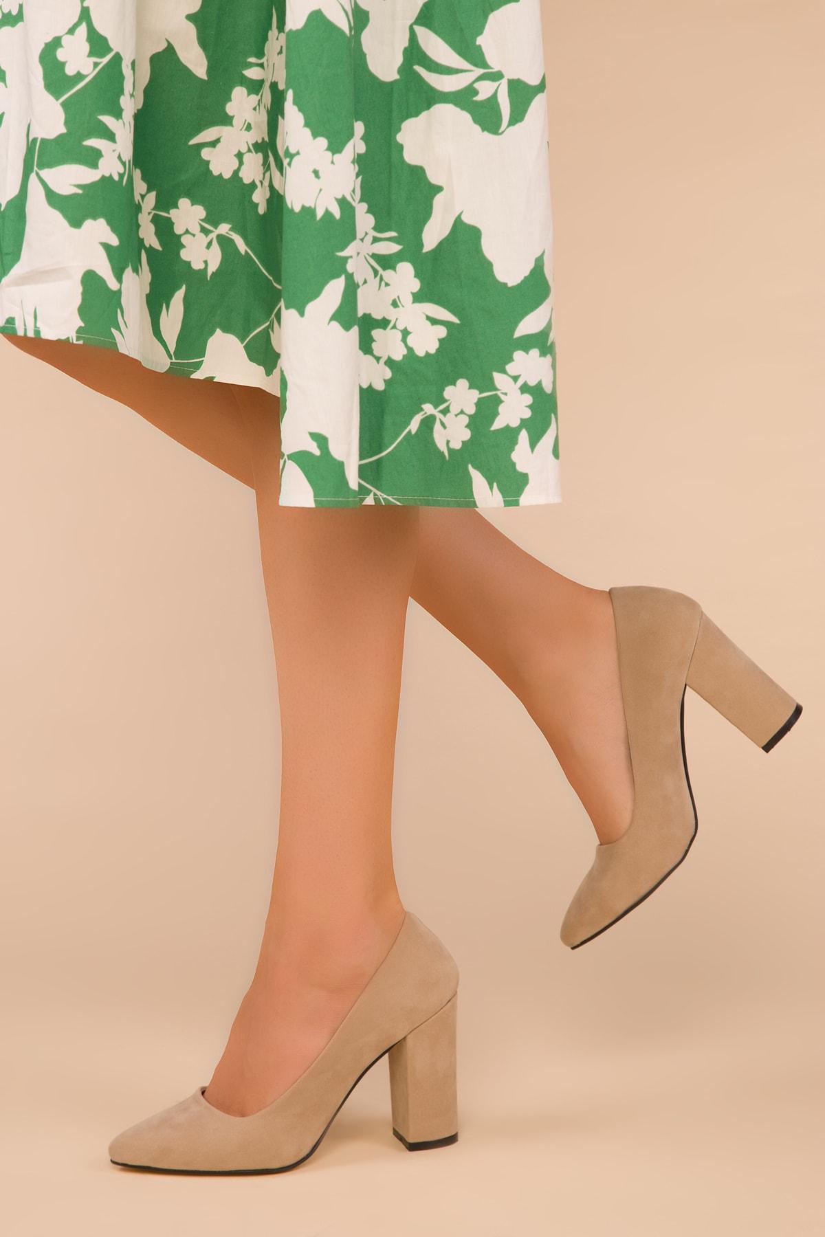 SOHO Ten Süet Kadın Klasik Topuklu Ayakkabı 15313 1
