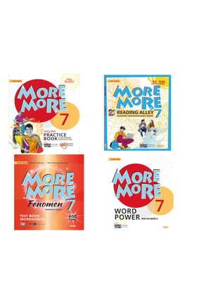 Kurmay Yayınları More And More 7. Sınıf Practıce Book +fenomen Test Book+ Wordpower + Readıng Alley Set