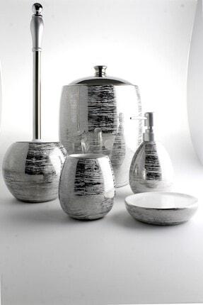 AROW Massimo Porslen Banyo Takımı 5 Parça/Gümüş
