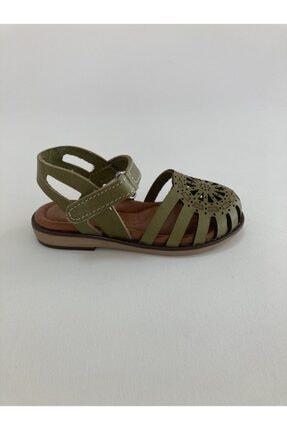 Bambino Kız Çocuk Haki Hakiki Deri Sandalet
