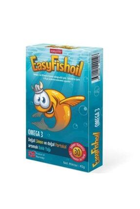 EASYVİT 30 Tablet  Balık Yağı Çocuklar Için Omega 3 Ve D Vitamini