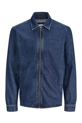 Jack & Jones Kadın Mavi Overshırt Ceket