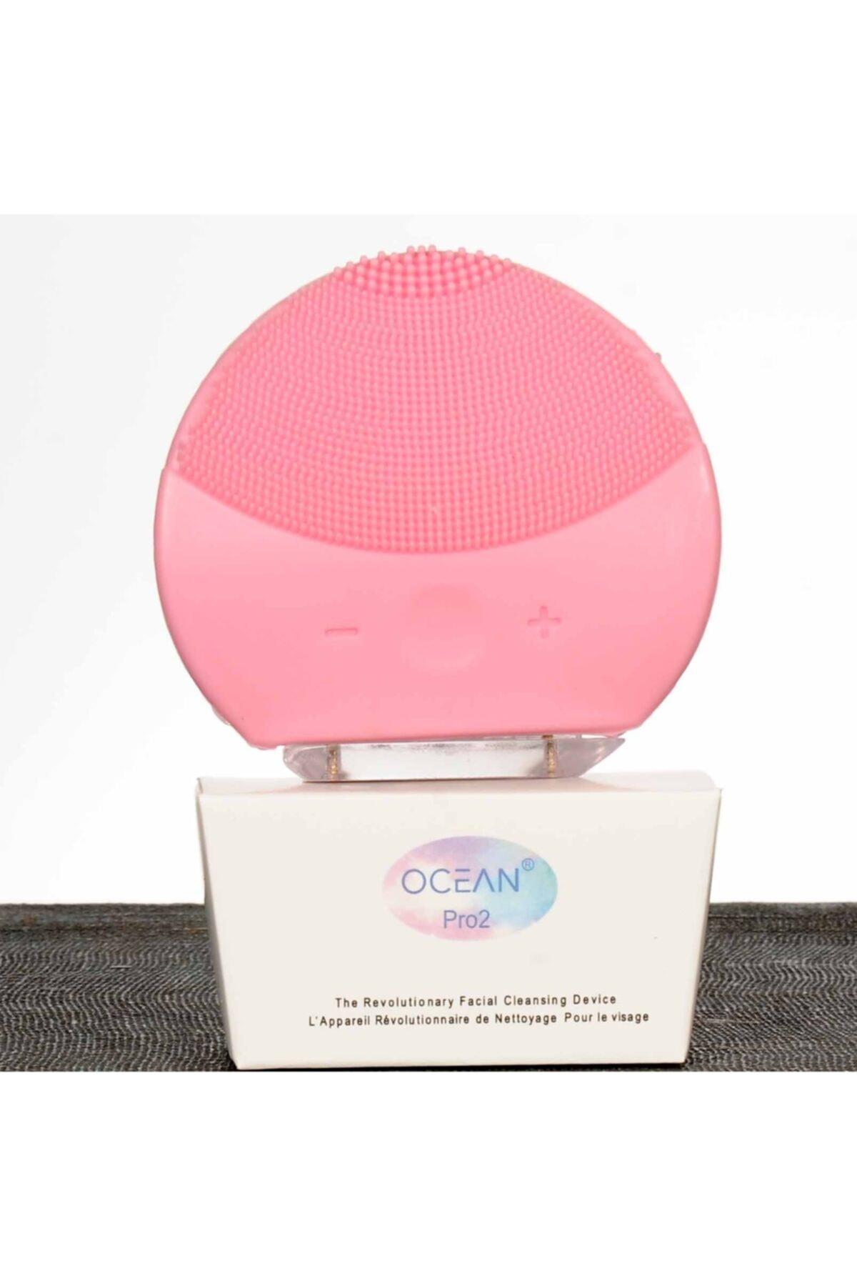 Ocean Pembe Oval Yüz Temizleme Cihazı 2