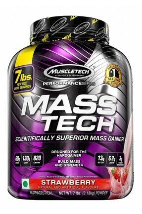 MUSCLETECH Mass-tech Mass Gaıner 3180 gr Çilek Aromalı