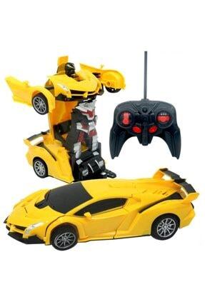 Smiley Toys Uzaktan Kumandalı Şarjlı Robota Dönüşen Araba - Oyuncak Robota Dönüşen Sarı Araba