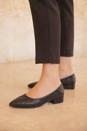 STRASWANS Worde Deri Topuklu Ayakkabı Siyah