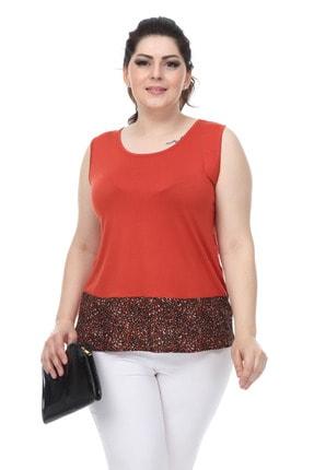 Şans Kadın Tarçın Garni Detaylı Kolsuz Bluz 65N18014
