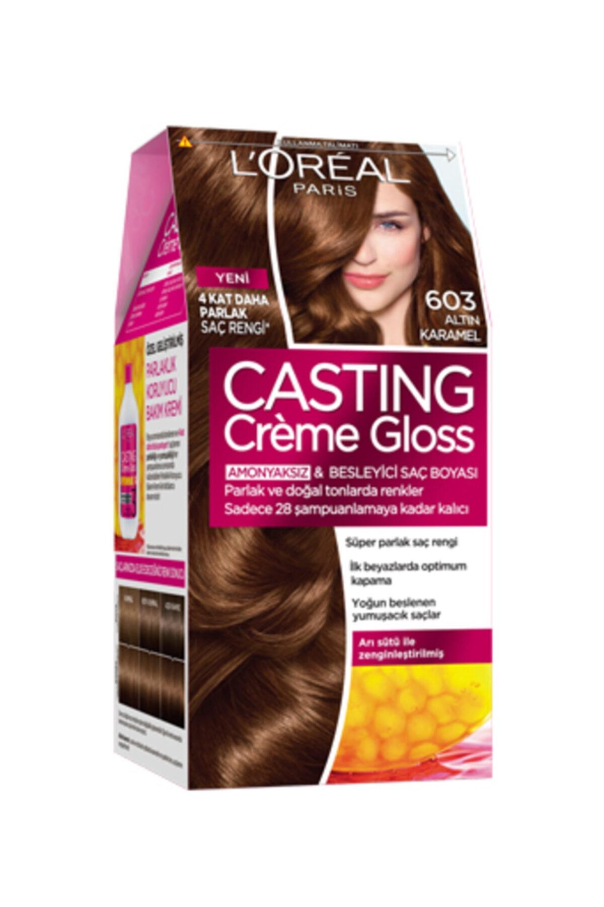 L'Oreal Paris Casting Creme Gloss Saç Boyası 603 Altın Karamel 1