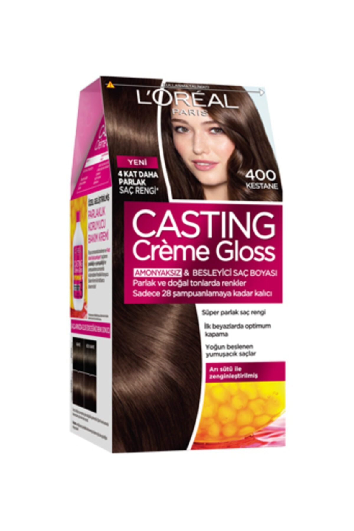 L'Oreal Paris Casting Creme Gloss Saç Boyası 400 Kestane 1