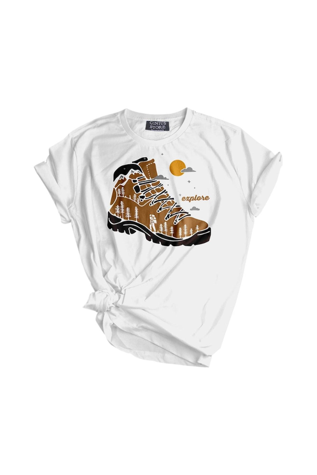 GENIUS Genıus Store Kadın Tişört Outdoor Baskılı T-shirt 1