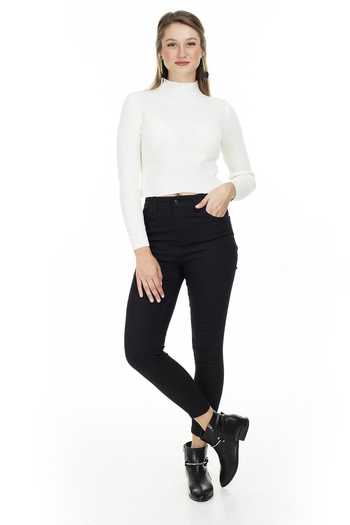 Lela Kadın Yüksek Bel Skinny Jeans Kot Pantolon 5874206