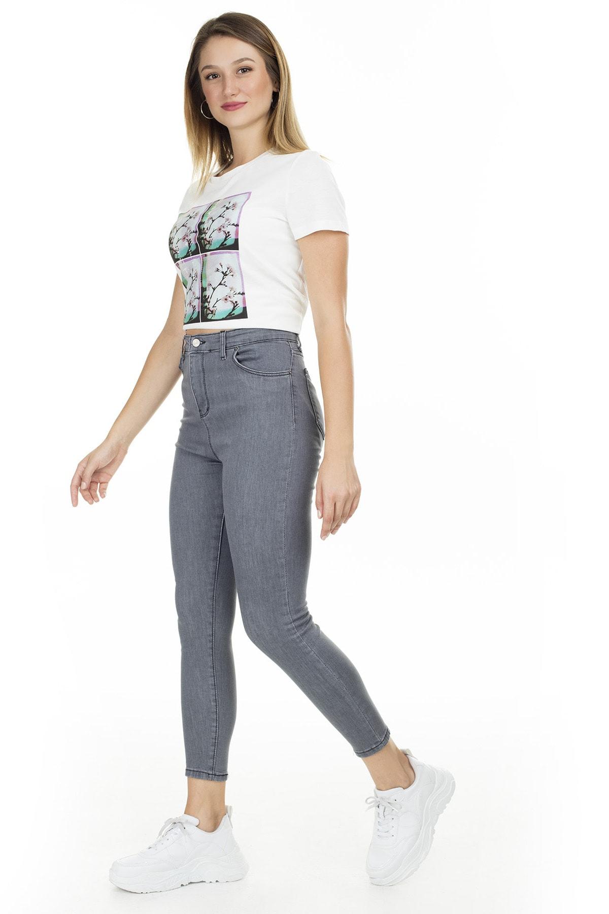 Lela Kadın Yüksek Bel Skinny Jeans Kot Pantolon 58714861