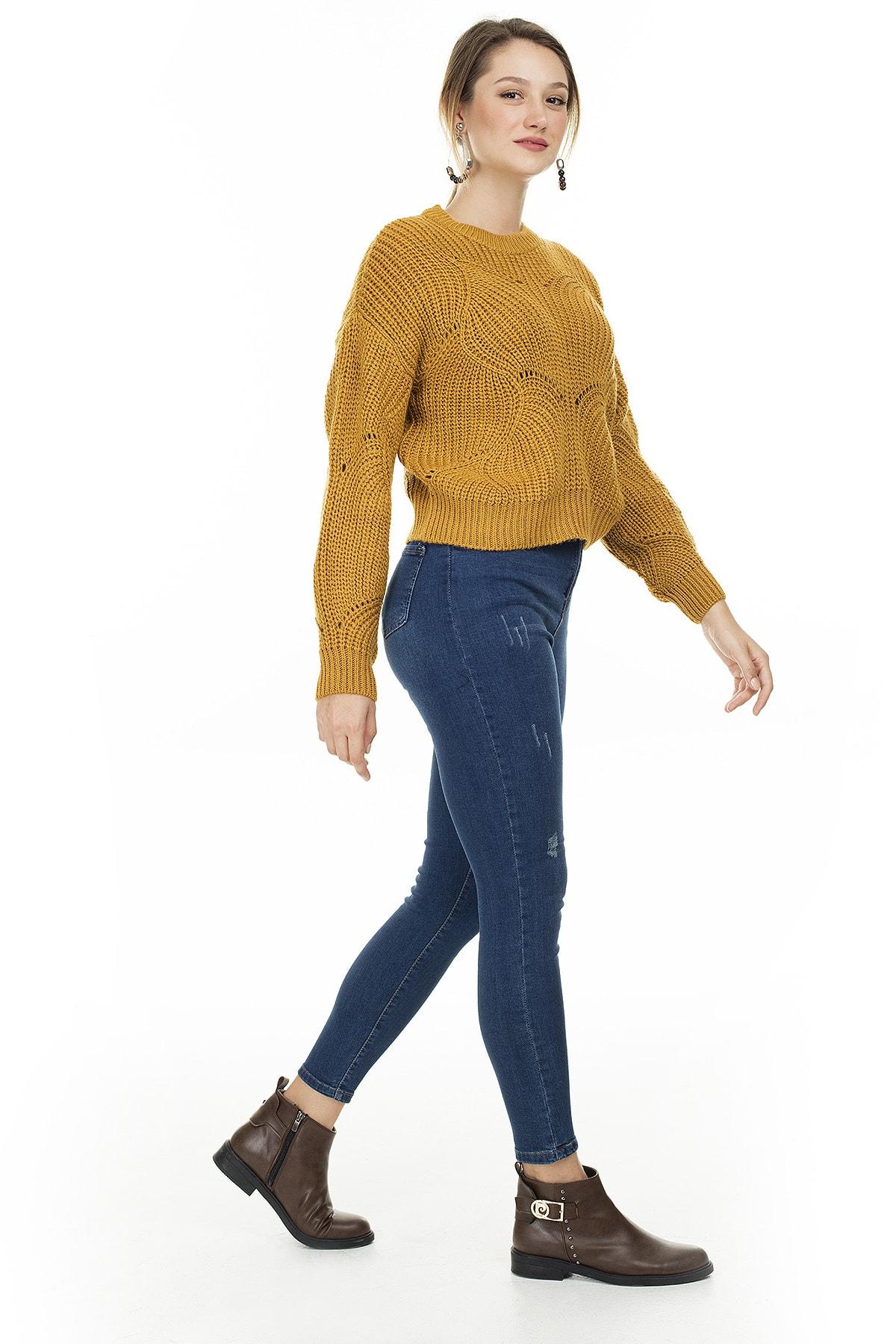 Lela Yüksek Bel Skinny Pamuklu Jeans KADIN KOT PANTOLON 58713259