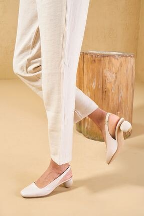 Louis Cardy Hogun Bej Hakiki Deri Kadın Klasik Topuklu Ayakkabı