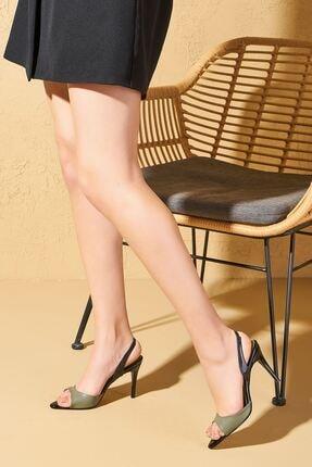 Louis Cardy Tide Haki Kadın Topuklu Ayakkabı