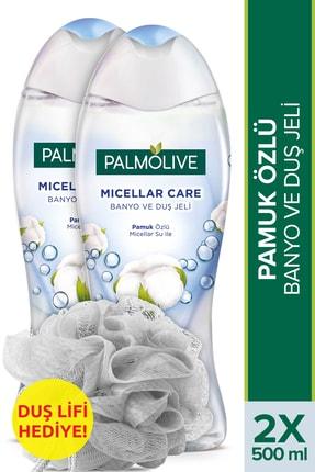 Palmolive Micellar Care Banyo ve Duş Jeli Pamuk Özlü 500 ml x 2 Adet - Lif Hediye