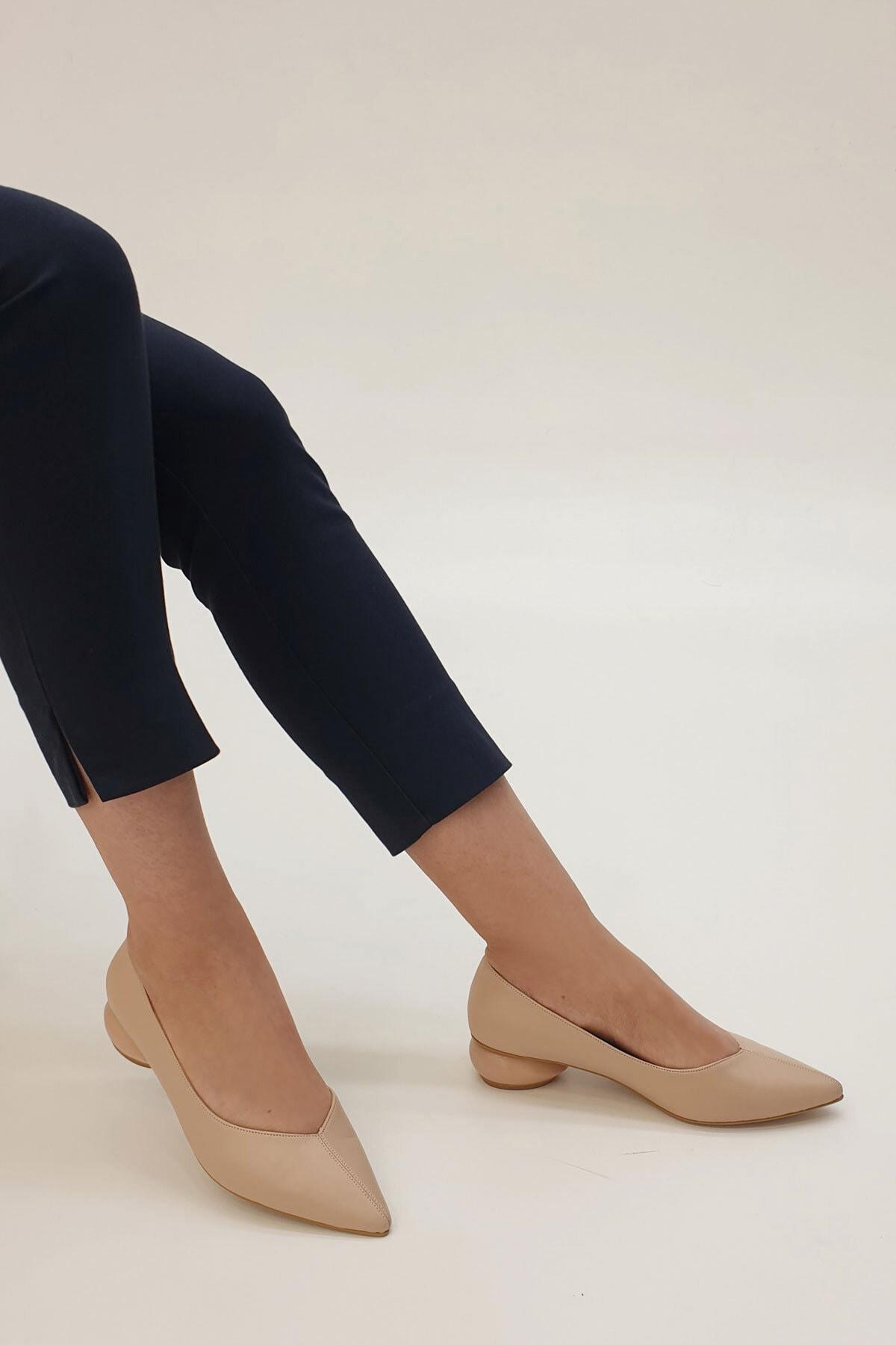 Marjin Bej Kadın Evara Topuklu Ayakkabı