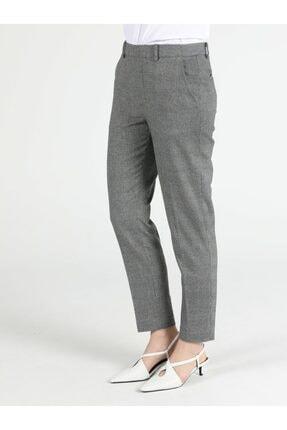Colin's Slim Fit Düz Paça Yüksek Bel Gri Kadın Pantolon